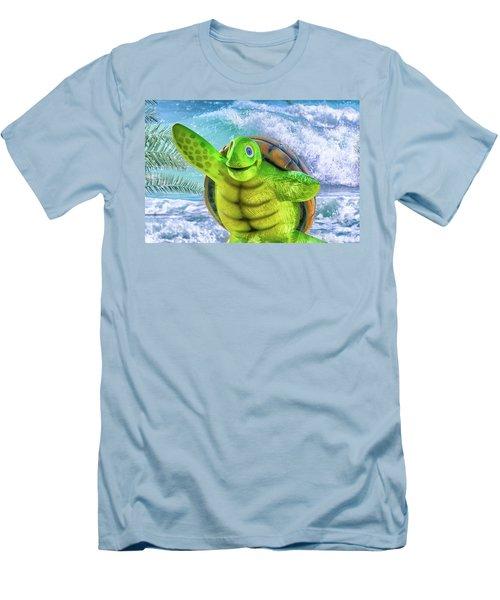 10731 Myrtle The Turtle Men's T-Shirt (Slim Fit) by Pamela Williams
