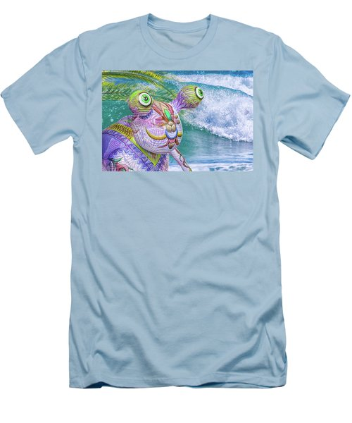 10859 Aliens In Paradise Men's T-Shirt (Slim Fit) by Pamela Williams