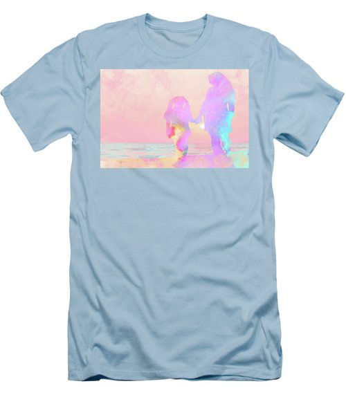 10876 Sunset With Mom Men's T-Shirt (Slim Fit) by Pamela Williams