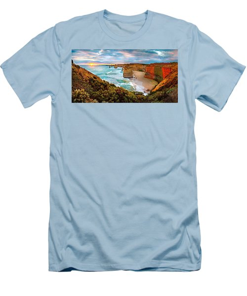 12 Apostle Sunset Men's T-Shirt (Slim Fit) by Az Jackson