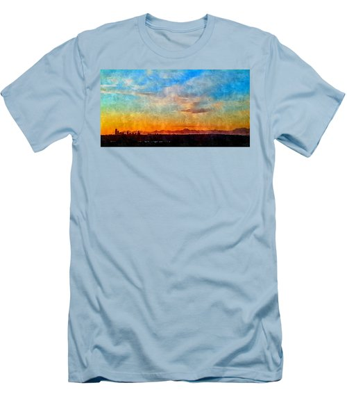 14th Floor Bellevue Place  Men's T-Shirt (Slim Fit) by Karl Reid