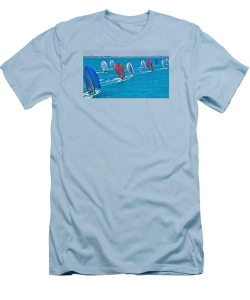 Miami Skyline Regatta Men's T-Shirt (Slim Fit) by Steven Lapkin