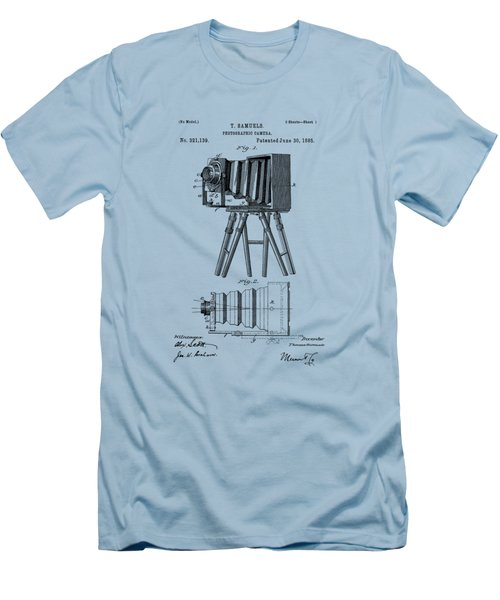 1885 View Camera Patent  Men's T-Shirt (Slim Fit) by Barry Jones