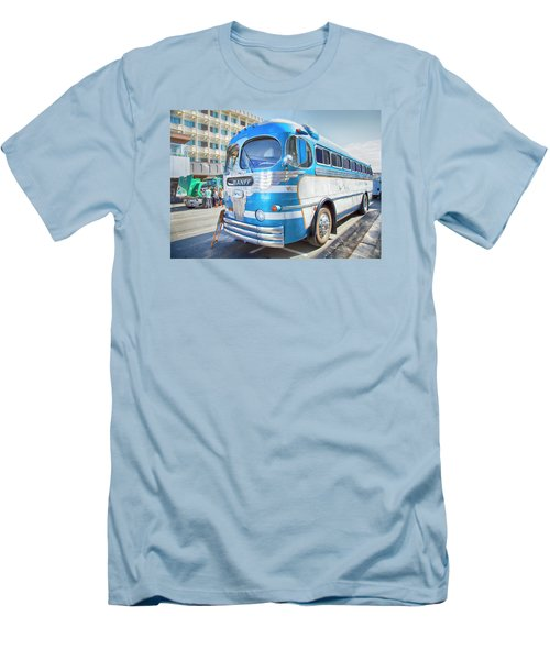 Men's T-Shirt (Slim Fit) featuring the photograph 1946 Greyhound by Theresa Tahara