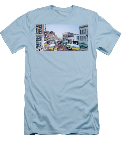 1948 Rush Hour Portsmouth Ohio Men's T-Shirt (Slim Fit) by Frank Hunter