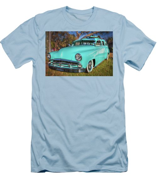 1951 Plymouth Suburban 2 Door Station Wagon 001 Men's T-Shirt (Slim Fit) by Rich Franco