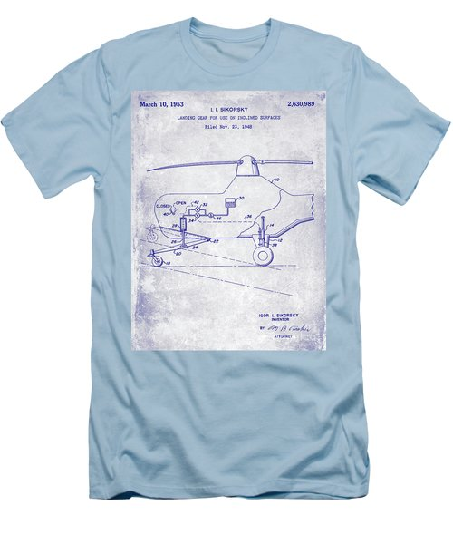 1953 Helicopter Patent Blueprint Men's T-Shirt (Slim Fit)
