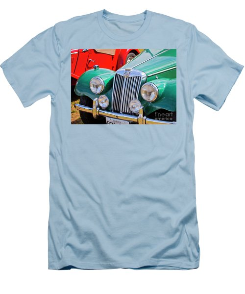 Men's T-Shirt (Slim Fit) featuring the photograph 1954 Mg Tf Sports Car by Chris Dutton