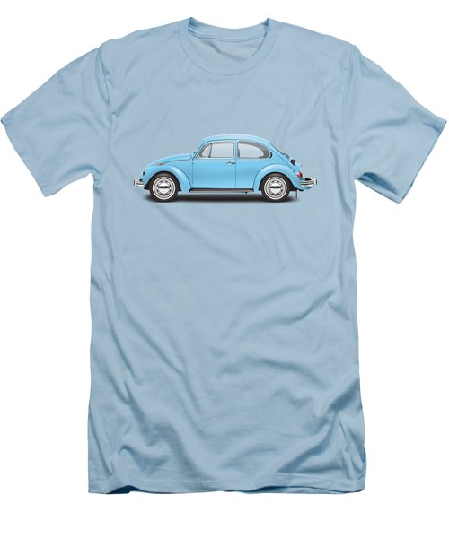 1972 Volkswagen Super Beetle - Marina Blue Men's T-Shirt (Slim Fit)