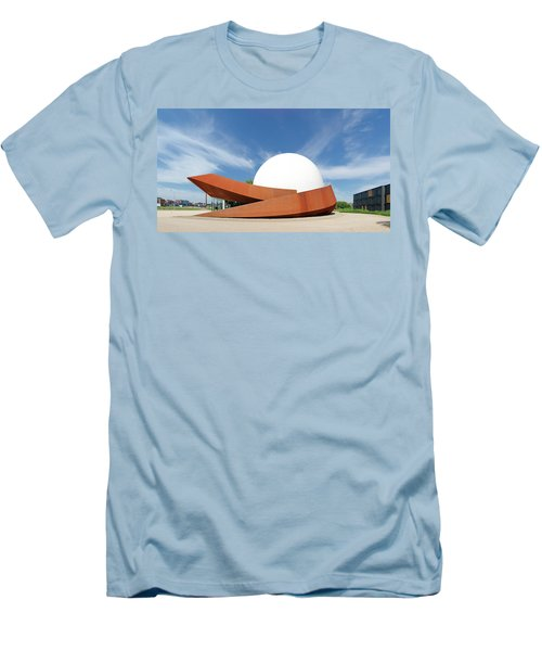 Men's T-Shirt (Slim Fit) featuring the photograph 3d Theater by Hans Engbers