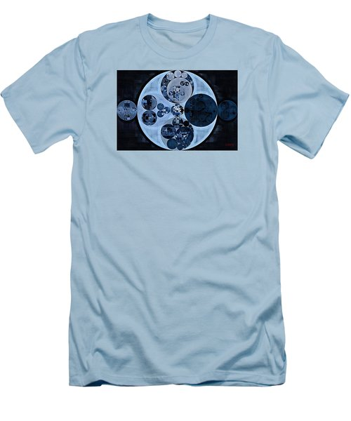 Men's T-Shirt (Slim Fit) featuring the digital art Abstract Painting - Polo Blue by Vitaliy Gladkiy