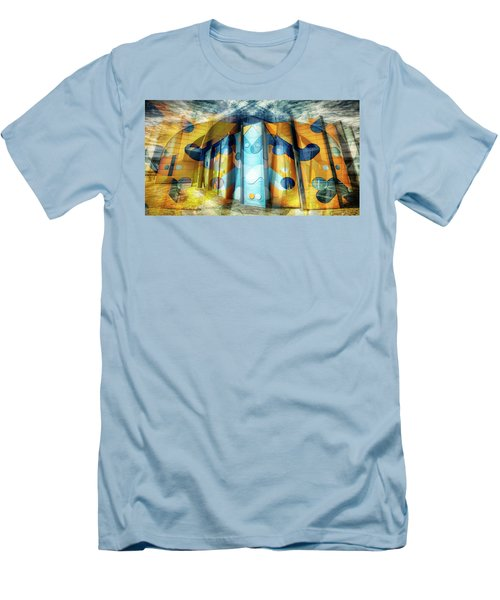 Men's T-Shirt (Slim Fit) featuring the photograph Architectural Abstract by Wayne Sherriff