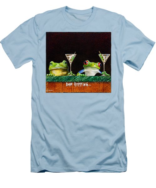Bar Hopping... Men's T-Shirt (Slim Fit) by Will Bullas