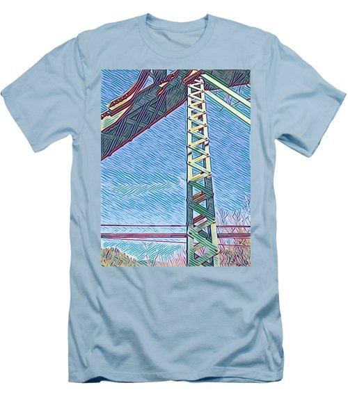 Bridge At Guerneville Men's T-Shirt (Athletic Fit)