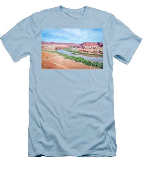 Canyon Of Colorado River In Utah Aerial View Men's T-Shirt (Athletic Fit)