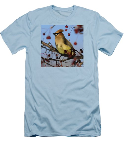 Cedar Waxwing... Men's T-Shirt (Slim Fit) by Nina Stavlund