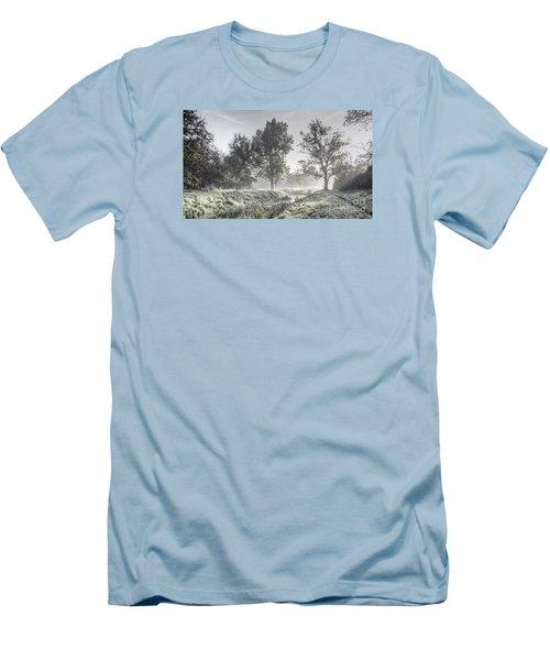 Colorful Autumn Landscape Men's T-Shirt (Slim Fit) by Odon Czintos