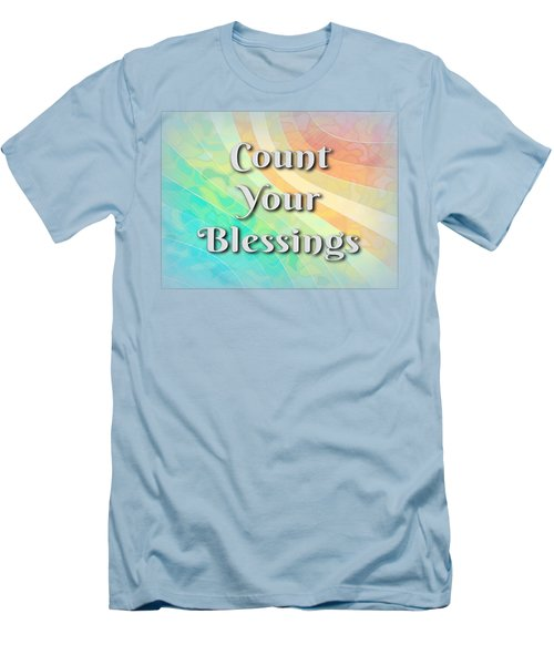 Count Your Blessings Men's T-Shirt (Athletic Fit)