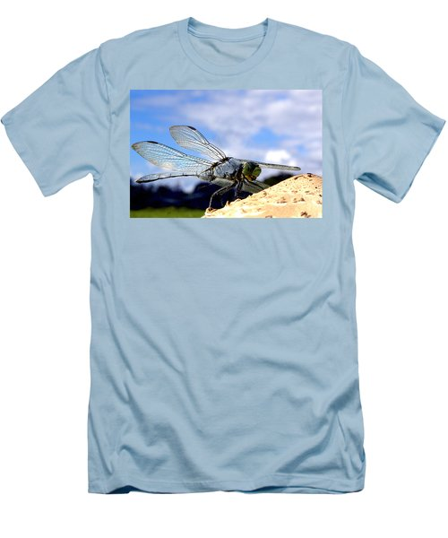 Dragonfly On A Mushroom 001  Men's T-Shirt (Athletic Fit)