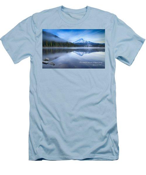 His Mercies Men's T-Shirt (Slim Fit) by Lynn Hopwood