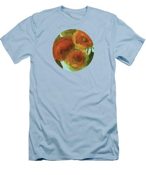 Impressionist Floral Painting Men's T-Shirt (Athletic Fit)
