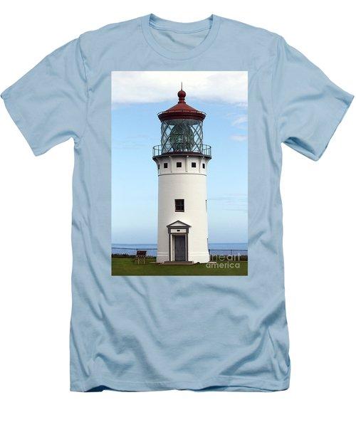 Kilauea Lighthouse On Kauai Men's T-Shirt (Slim Fit) by Catherine Sherman