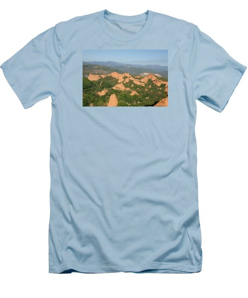 Las Medulas Men's T-Shirt (Slim Fit) by Christian Zesewitz