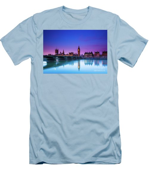 London Big Ben  Men's T-Shirt (Slim Fit) by Mariusz Czajkowski