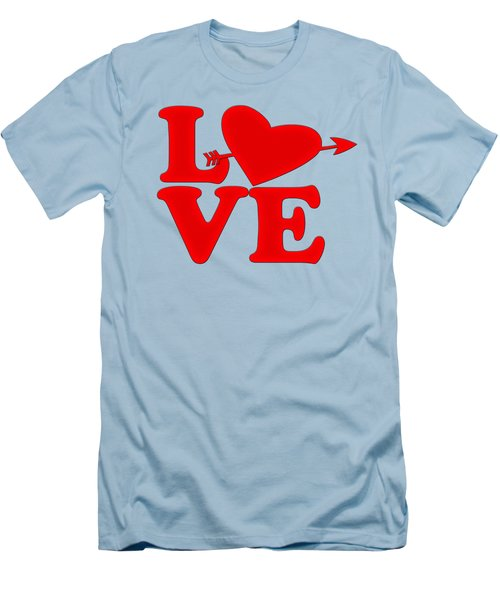 Men's T-Shirt (Slim Fit) featuring the drawing Love by Bill Cannon