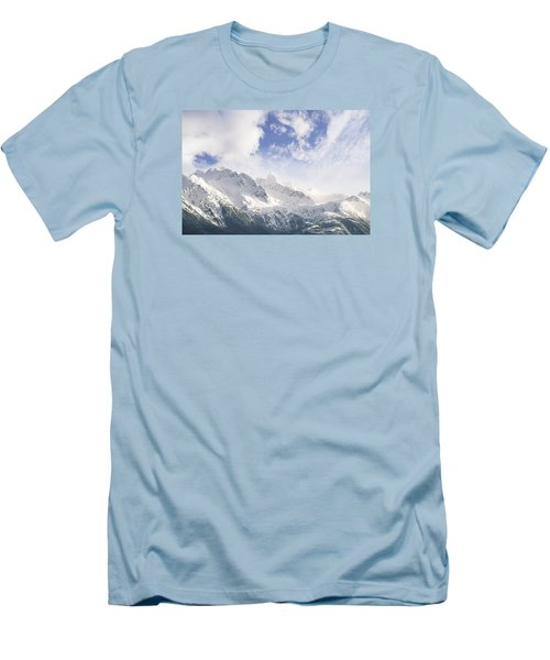 Men's T-Shirt (Slim Fit) featuring the photograph Mountains And Clouds by Michele Cornelius