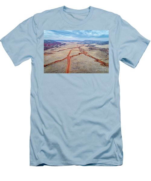northern Colorado foothills aerial view Men's T-Shirt (Athletic Fit)