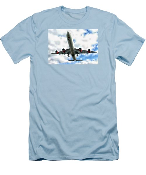 Passenger Plane Men's T-Shirt (Athletic Fit)