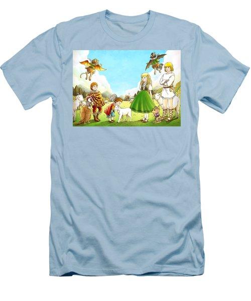 Prince Henry And Prince Richard Men's T-Shirt (Slim Fit) by Reynold Jay