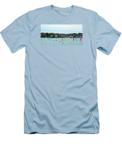 Men's T-Shirt (Slim Fit) featuring the photograph Sailing by Raymond Earley