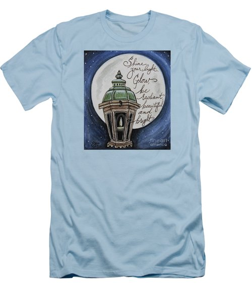 Shine Your Light Men's T-Shirt (Slim Fit) by Elizabeth Robinette Tyndall