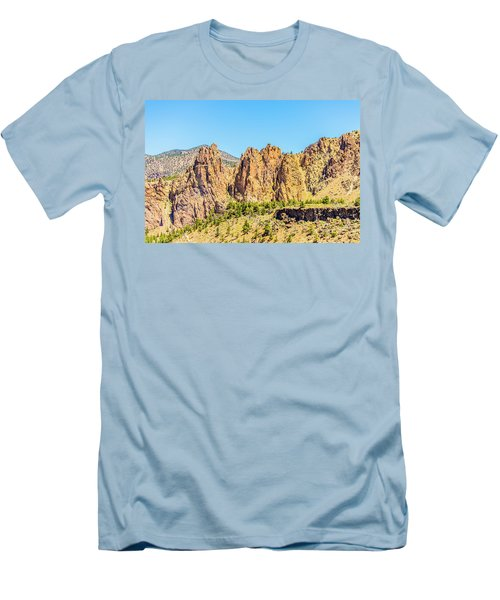 Men's T-Shirt (Athletic Fit) featuring the photograph Smith Rock by Jonny D