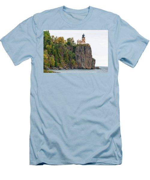 Split Rock Lighthouse Men's T-Shirt (Slim Fit) by Steve Stuller