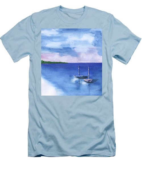 2 Still Boats Men's T-Shirt (Athletic Fit)