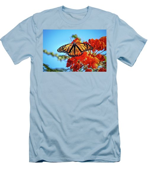 The Resting Monarch Men's T-Shirt (Slim Fit) by Robert Bales