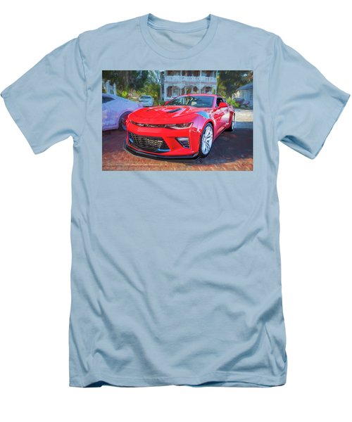 Men's T-Shirt (Slim Fit) featuring the photograph 2017 Chevrolet Camaro Ss2  by Rich Franco