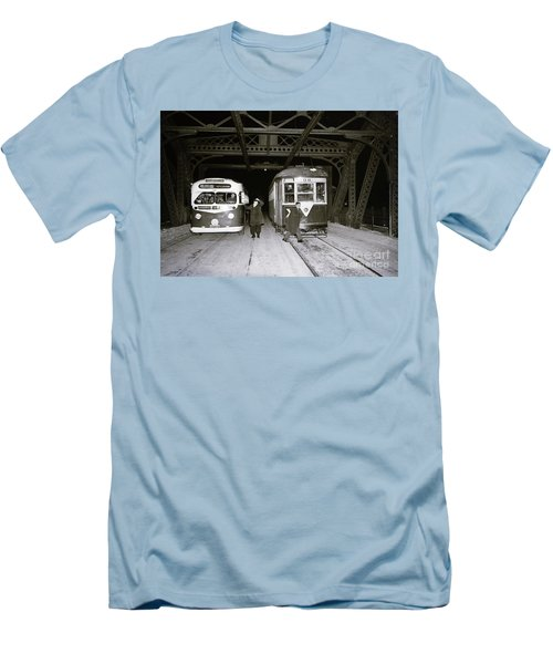 207th Street Crosstown Trolley Men's T-Shirt (Slim Fit) by Cole Thompson