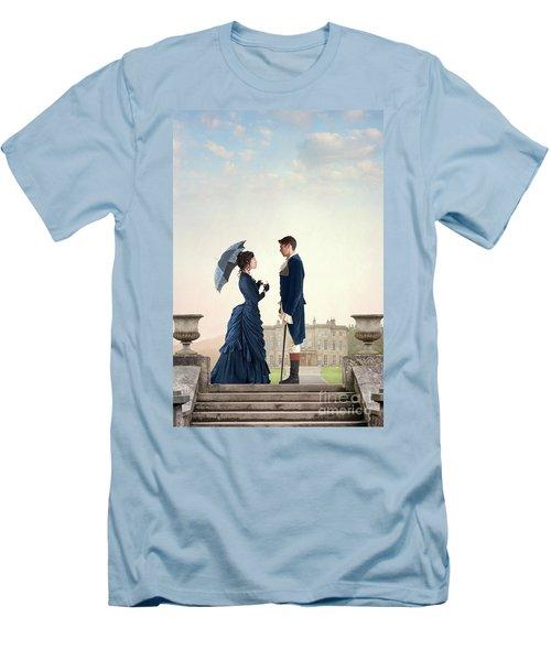 Victorian Couple  Men's T-Shirt (Slim Fit) by Lee Avison