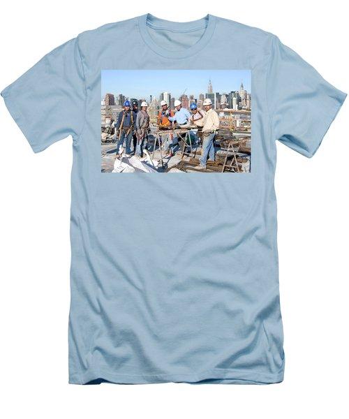 27th Street Lic 4 Men's T-Shirt (Slim Fit) by Steve Sahm