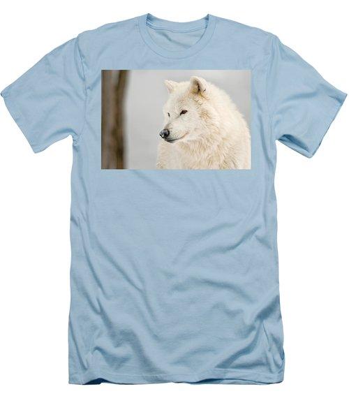 Arctic Wolf Portrait Men's T-Shirt (Athletic Fit)