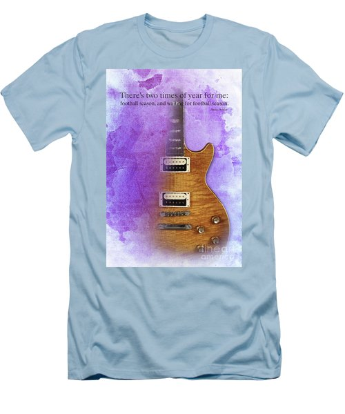 Darius Rucker Inspirational Quote, Electric Guitar Poster For Music Lovers And Musicians Men's T-Shirt (Athletic Fit)