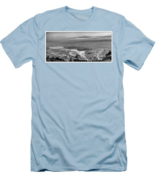 Men's T-Shirt (Athletic Fit) featuring the photograph Ferrol's Ria Panorama From Mount Ancos Galicia Spain by Pablo Avanzini