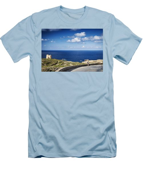 Fort And Coast View Of Gozo Island In Malta Men's T-Shirt (Athletic Fit)