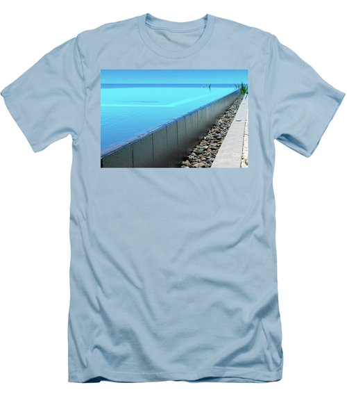 Men's T-Shirt (Slim Fit) featuring the photograph Infinity Pool by Atiketta Sangasaeng
