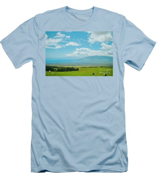 Kula Maui Hawaii Men's T-Shirt (Slim Fit) by Sharon Mau