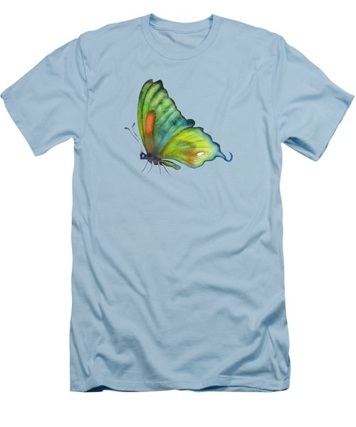 3 Perched Orange Spot Butterfly Men's T-Shirt (Athletic Fit)